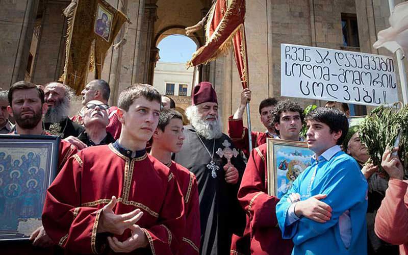 زبان و مذهب مردم گرجستان