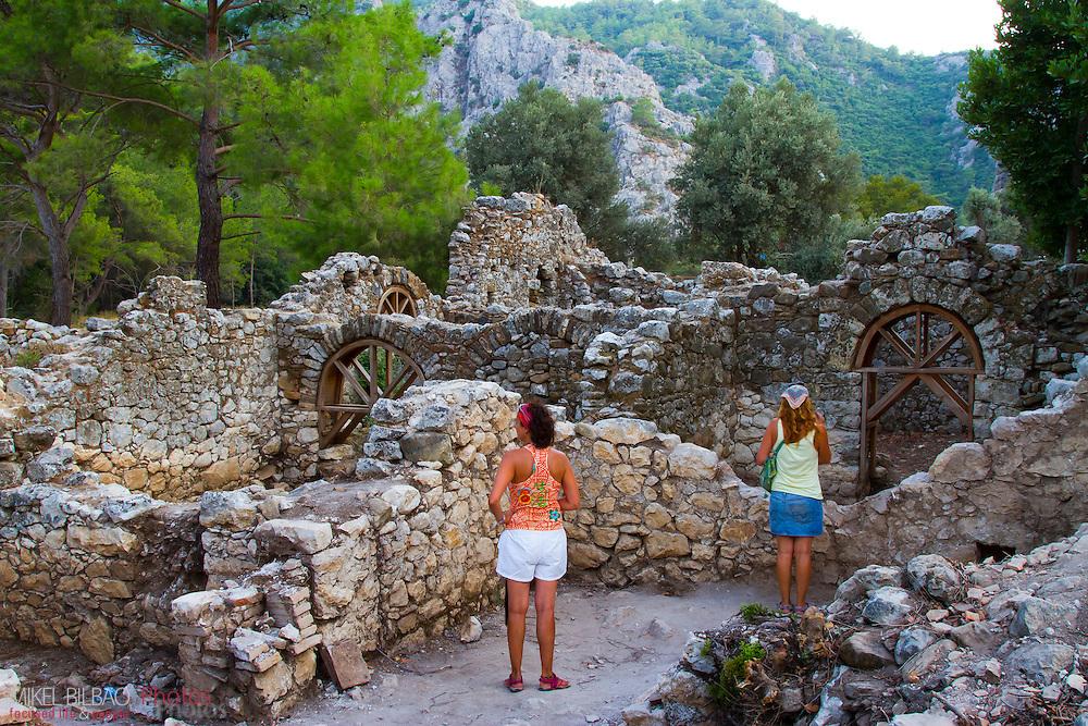 Olympos city ruins.  Olympos coastal National Park. Antalya province. Mediterranean coast. Turkey.