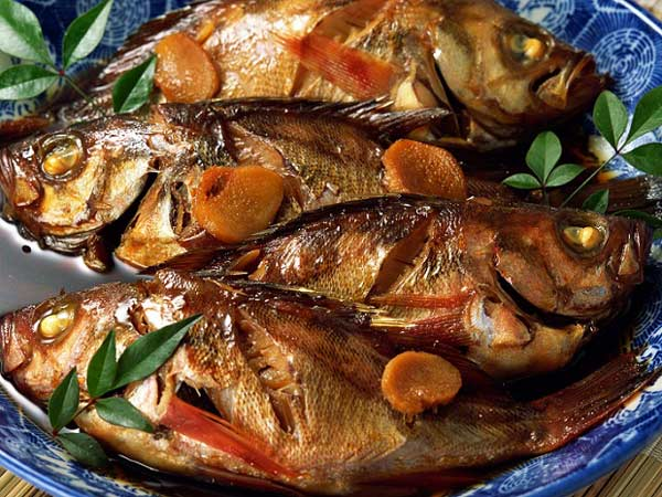 ماهی برشته (کباب ذغالی)